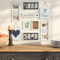 Darby Home Co Broderick 9 Piece Heart Decor Picture Frame Set DRBH2205