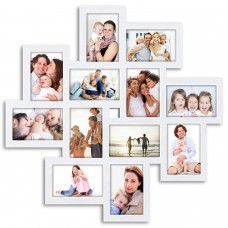 Ebern Designs Haymond Gallery Style Wall Hanging 12 Opening Photo Sockets Picture Frame EBDG4506