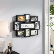Winston Porter Giddings Family Theme Wall Hanging 8 Opening Photo Sockets Picture Frame WNSP2671