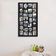 AdecoTrading 29 Opening Decorative Wood Photo Collage Wall Hanging Picture Frame ADEC1285