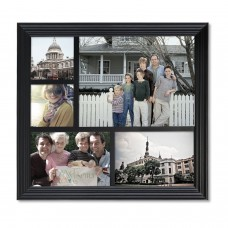 AdecoTrading 5 Opening Decorative Wood Photo Collage Wall Hanging Picture Frame ADEC1284