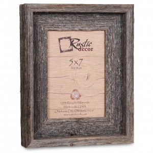 Loon Peak Waldrop Barn Wood Reclaimed Wood Signature Picture Frame LNPK8964