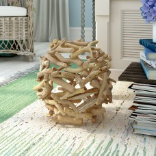 Beachcrest Home Driftwood and Oak Wood Decorative Ball BCHH2421