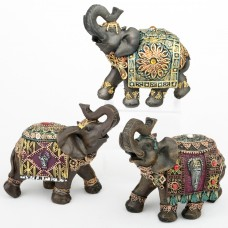 Bloomsbury Market Friley 3 Piece Elephant Figurine Set BLMK1870