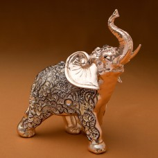 FashionCraft Standing Elephant with Clear Stone Figurine FCRA1207