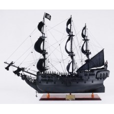Old Modern Handicrafts Black Pearl Pirate Model Ship OMH1176