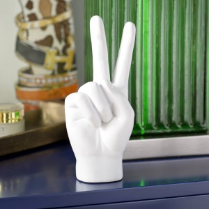 Willa Arlo Interiors Alani Peace Sign Table Sculpture WLAO3785