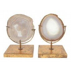 Willa Arlo Interiors Elin Natural Decorative Agate Décor On Stand WLAO2260