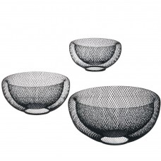 Ivy Bronx Frisby 3 Piece Metal Mesh Decorative Bowl Set IVBX2527