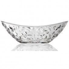 Lorren Home Trends Crystal Oval Leaf Fruit Decorative Bowl LHT1745