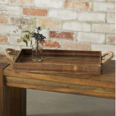 Laurel Foundry Modern Farmhouse Bishopston Wooden Rectangular Tray LFMF3199