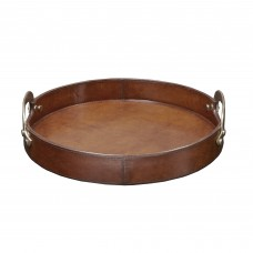 Madison Park Signature Camryn Leather Round Accent Tray BDIS1533