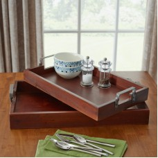 Three Posts Olsen 2 Piece Serving Tray Set THRE2257