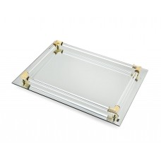 Willa Arlo Interiors Rectangle Mirrored Accent Tray WLAO2167