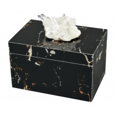 Bloomsbury Market Blayze Natural Geode and Composite Decorative Box BLMT4853