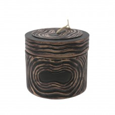 Bloomsbury Market Circle Resin Covered Decorative Box BBMT4269