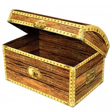 The Beistle Company Decorative Paper Treasure Chest Box TBCY1163