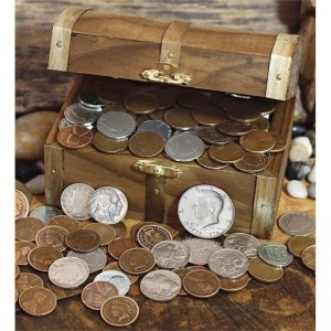 Wind Weather Decorative Historic Treasure Chest of Old and Rare Coins WIWE1387