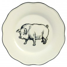 AndreabySadek Farm Dinner Pig Decorative Plate ABYS1042