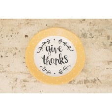 Glory Haus Give Thanks Decorative Plate VGH1609