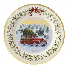 Lenox Holiday 2018 Vintage Wagon Decorative Plate LNX9798