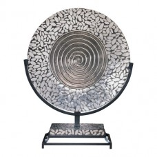 Minka Ambience Charger Plate in Silver and Black ABM1178