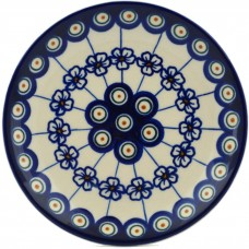 Polmedia Flowering Peacock Polish Pottery Decorative Plate PMDA3583