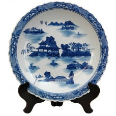 World Menagerie Christiane Decorative Plate in Ming Blue and White WLDM7665