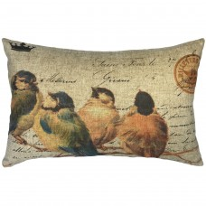 August Grove Callas Birds of Branch Linen Lumbar Pillow AGTG8591