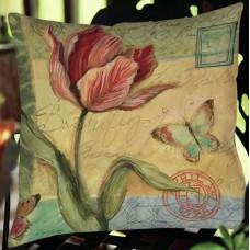 August Grove Loretta Tulip Indoor/Outdoor Throw Pillow AGGR6380