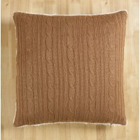 Brielle Cozy Cable Knit Throw Pillow BRLL1225