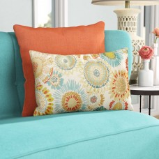 Bungalow Rose Squire Aqua Lumbar Pillow BGLS6680