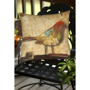 East Urban Home Bird Indoor/Outdoor Throw Pillow ETUM1291