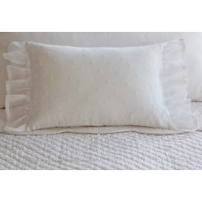 Taylor Linens Daisy Dot Cotton Lumbar Pillow XEN1539