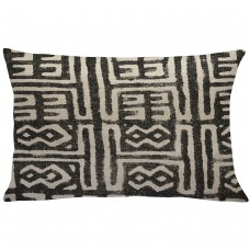 Union Rustic Cao Mud Cloth Linen Throw Pillow UNRS4325