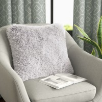 Willa Arlo Interiors Broughton Very Soft and Comfy Plush Faux Fur Throw Pillow WRLO6137