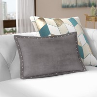 Willa Arlo Interiors Ronning Stud Trim Lumbar Pillow WLAO2873
