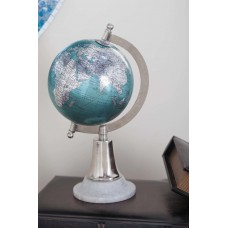 Charlton Home Cyan Marble and Plastic Globe CLRB6076