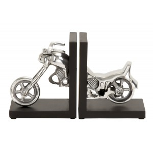 Cole Grey Aluminum and Wood Book Ends COGR4040