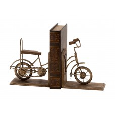 Cole Grey Metal Wooden Cycle Book Ends COGR7471