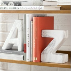 "Langley Street ""A"" and ""Z"" Ceramic Book Ends LGLY3081"