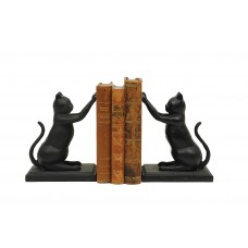 Three Posts Cast Iron Cat Book End TRPT6070
