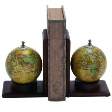 Three Posts Contemporary Globe Book End THPS2282