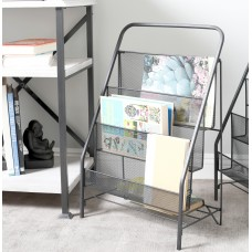 Cole Grey Industrial 3-Tiered Magazine Rack CLRB4315