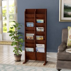 Darby Home Co Bengt 20 Pocket Free Standing Magazine Rack DBYH8284