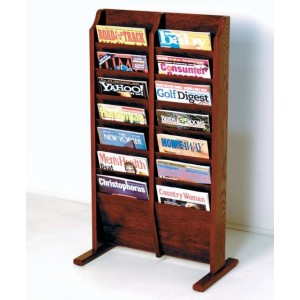 Rebrilliant 14 Pocket Free Standing Magazine Rack REBR2862