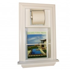 WG Wood Products In The Wall Recessed Toilet Paper Holder with Magazine Rack WGWP1449