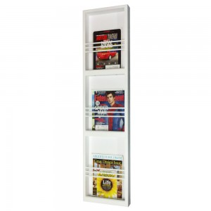 WG Wood Products On The Wall Triple Magazine Rack WGWP1457