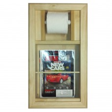 WG Wood Products Recessed Magazine Rack and Toilet Paper Holder Combo WGWP1029