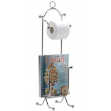 Wildon Home ® Freestanding Combination Magazine Rack and Toilet Paper Holder CST44913